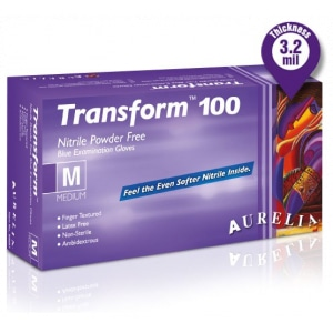 Gant nitrile jetables Transform 100