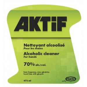 AKTiF - Nettoyant alcoolisé pour les mains
