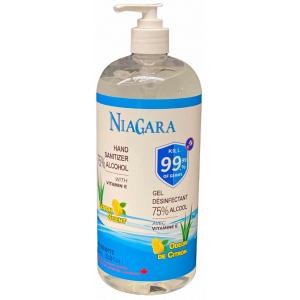 NIAGARA - Gel désinfectant pour les mains avec 75% d'alcool - Vitamine E et odeur de citron 1000ml